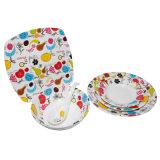 Версия фрукты украшения Наборы посуды/100% меламина посуда