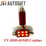 Luzes da matrícula do festão 6SMD Canbus dos bulbos do diodo emissor de luz do carro auto