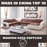 Sala de estar 2017 em forma de sofá de couro genuíno