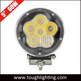Luz combinada de la conducción de automóviles del punto redondo LED de la pulgada 60W de la C.C. 12V 5 del Ce y de RoHS