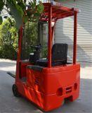 Mini carretilla elevadora eléctrica del almacén de las ruedas de interior del equipo 3 en existencias con las forkes Sideshift