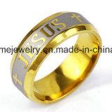 Anello riempito dei monili degli uomini placcato oro e delle donne dell'acciaio inossidabile delle pietre (CZR2573)