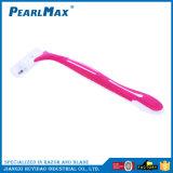 Rosafarbenes Farben-Dreiergruppen-Schaufel-Rasiermesser für Frauen