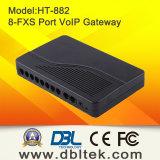 DBL-8 schließt VoIP ATA (FXS Kommunikationsrechner) /Ht-882 an den Port an
