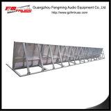 Structure extérieure provisoire de matériel de barrière de foule d'événement