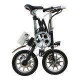E-Bici elettrica piegata portatile con la lampada del LED