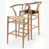 Presidenza di legno progettata famosa di Wishbone Y con la sede di cuoio dell'unità di elaborazione (SP-EC805)