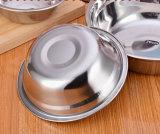 Plat à base d'acier inoxydable à base de cuvette / bol de soupe