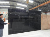 Естественный мрамор Китая черный Nero Marquino для плитки/сляба/встречной верхней части