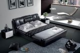 Кровать кожи мебели спальни (SBT-5846)