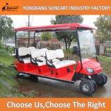 Автомобиль гольфа мест красного цвета 8 электрический Sightseeing для сбывания