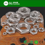 Noix Hex moletée en acier de bride de SS304 Ss316 Stainlesss (DIN6923)