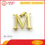 Jinzi Custom Metal Logo Plate, Logotipo de Metal Letter para Bolsos y Ropa