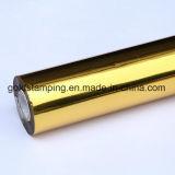 Película caliente del animal doméstico del Mic de la lámina para gofrar 12 del oro metálico