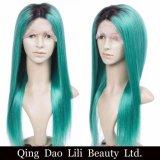 Parrucca piena del merletto dei capelli umani di Ombre delle radici di oscurità di tono di Ombre 2 di buona qualità