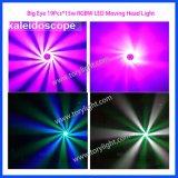 LED, die 19PCS*15W RGBW bewegliches Hauptlicht dreht