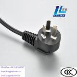 Cable eléctrico estándar de Yonglian YL-002 China con tres contactos