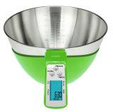 Ciotola piena Digital dell'acciaio inossidabile 500ml che pesa la scala della cucina