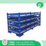 Rack de empilhamento dobrável para armazenamento de mercadorias