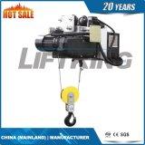 Élévateur électrique de câble métallique de caractéristique de sûreté durable d'opération