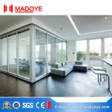 Алюминиевая дверь сползая стекла перегородки