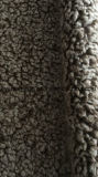 Tessuto riccio della pelliccia di falsificazione della pelliccia di Sherpa di legame della pelle scamosciata della stagnola per l'indumento