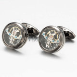 Hotsale Tourbillon gemelos ver movimiento Cuff Links abogado Don Gemelos 509