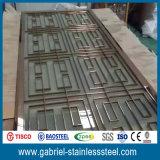 Diviseur de pièce se pliant d'écran d'acier inoxydable de fabrication en métal