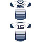 Dernière équipe de Soccer Jersey ensemble uniforme de football de dessins et modèles uniformes Stripe plein de Sublimation de Colorant Soccer Jersey Shirt