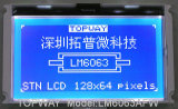 128X64 도표 LCD 디스플레이 이 유형 LCD 모듈 (LM6063A)