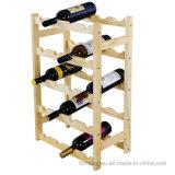 Il legno 20-Bottle libera la cremagliera di visualizzazione diritta del vino di memoria