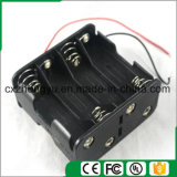 8AA Back to Back Support de batterie avec fils de fil rouge / noir