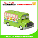 Boite promotionnelle en porcelaine Money Saving Box Bus Toy pour enfants