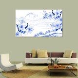 Голубая & белая картина ландшафта напечатанная цифров китайская для домашнего украшения