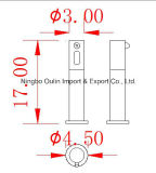 cuarto de baño elegante infrarrojo incorporado formado grifo de la cocina del sensor del dispensador automático del jabón del montaje de la pared 1000ml