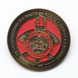 Moneda vieja del cinc de la aleación del recuerdo de encargo de los bomberos