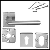 PVDのステンレス鋼の正方形カバー分割されたドアハンドル