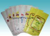 Saco tecido PP laminado BOPP Gusseted da alta qualidade