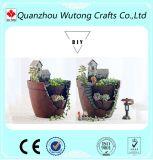 O projeto casa castanha resina pote de Flores Jardim plantas decorativas Pot