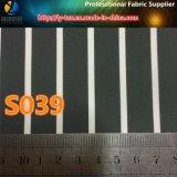 高級な衣服のライニング(S39.172)のための黒いポリエステル縞ファブリック
