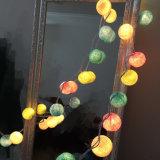 Lumière colorée de bille de coton du multiple DEL 2m20LED de qualité