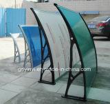 Tonalità materiali di alluminio durevoli della pioggia del baldacchino delle entrate principali del riparo della finestra della tenda