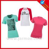 Cuello redondo personalizados para hombres camisetas de algodón de manga corta