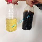 Il riciclaggio usato dell'olio per motori rimuove l'odore ed il colore di olio residuo