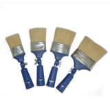 Spazzola piana eccellente della setola di miscela della maniglia di plastica bianca professionale di colore (GMPB017)