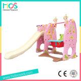 Corrediça plástica e balanço da cor-de-rosa luxuosa da série para a princesa (HBS17018D)