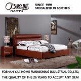 方法ダブル・ベッドデザイン現代寝室の家具の革ベッド(FB3080)