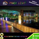 Décoration de jardin en plastique sans fil en aluminium illuminé LED Cylindre