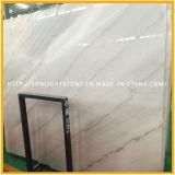 Lastra di marmo bianca su Polished, pietra cinese di bianco di Guangxi