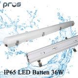 수증기 단단한 LED 정착물 1200mm 수증기 증거 고정편